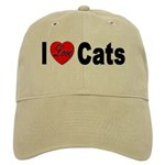 I Love Cats for Cat Lovers Cap