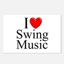"""""""I Love (Heart) Swing Music"""" Postcards (Package of"""