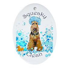Welsh Terrier Bubble Bath Oval Ornament