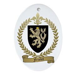 FRIOLET Family Crest Oval Ornament