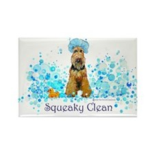 Welsh Terrier Bubble Bath Rectangle Magnet