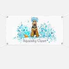 Welsh Terrier Bubble Bath Banner