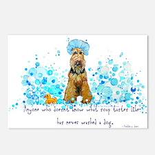 Welsh Terrier Bubble Bath Postcards (Package of 8)