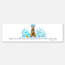 Welsh Terrier Bubble Bath Bumper Bumper Bumper Sticker