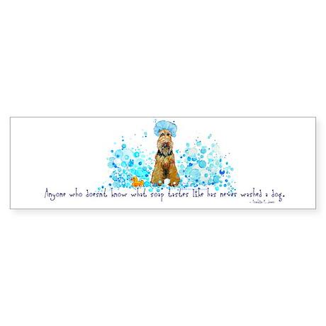 Welsh Terrier Bubble Bath Bumper Sticker