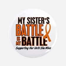 "My Battle Too (Sister) Orange 3.5"" Button"
