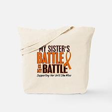 My Battle Too (Sister) Orange Tote Bag