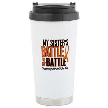 My Battle Too (Sister) Orange Stainless Steel Trav