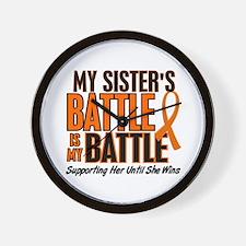 My Battle Too (Sister) Orange Wall Clock