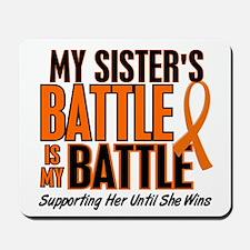 My Battle Too (Sister) Orange Mousepad