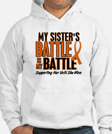 My Battle Too (Sister) Orange Hoodie