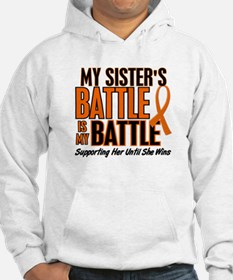 My Battle Too (Sister) Orange Jumper Hoody