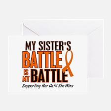 My Battle Too (Sister) Orange Greeting Card