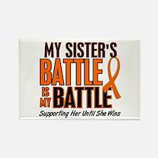 My Battle Too (Sister) Orange Rectangle Magnet (10