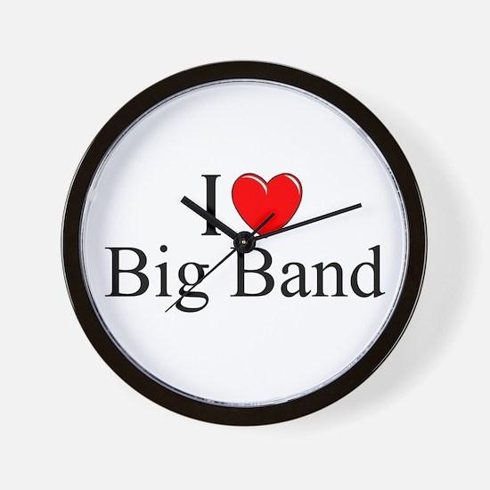 """I Love (Heart) Big Band"" Wall Clock"