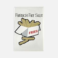 French Fry Slut Rectangle Magnet