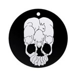 Cat Skull Ornament (Round)