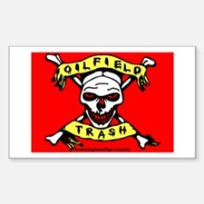 Oil Field Trash Rectangle Decal