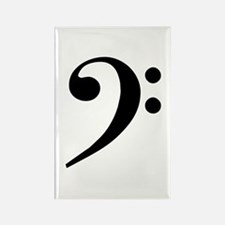 Trad Basic Black Bass Clef Rectangle Magnet (10 )