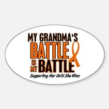 My Battle Too (Grandma) Oval Decal