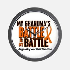 My Battle Too (Grandma) Wall Clock