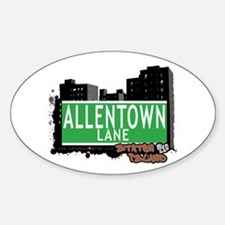 ALLENTOWN LANE, STATEN ISLAND, NYC Oval Decal