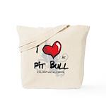 I Luv My Pit Bull Tote Bag