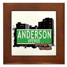 ANDERSON AVENUE, STATEN ISLAND, NYC Framed Tile
