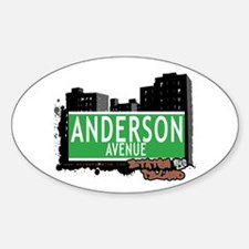 ANDERSON AVENUE, STATEN ISLAND, NYC Oval Decal