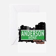 ANDERSON AVENUE, STATEN ISLAND, NYC Greeting Card