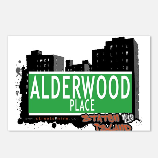 ALDERWOOD PLACE, STATEN ISLAND, NYC Postcards (Pac