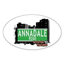 ANNADALE ROAD, STATEN ISLAND, NYC Oval Decal