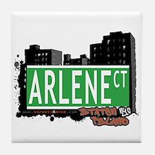 ARLENE COURT, STATEN ISLAND, NYC Tile Coaster