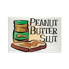 Peanut Butter Slut Rectangle Magnet