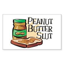 Peanut Butter Slut Rectangle Decal