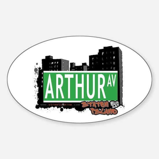 ARTHUR AVENUE, STATEN ISLAND, NYC Oval Decal