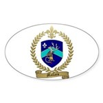 MALLAIS Family Crest Oval Sticker (50 pk)