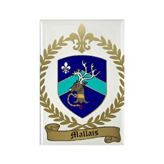 MALLAIS Family Crest Rectangle Magnet (100 pack)