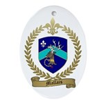 MALLAIS Family Crest Oval Ornament
