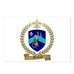 MALLAIS Family Crest Postcards (Package of 8)