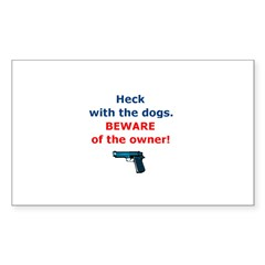 Beware of owner Rectangle Sticker 50 pk)