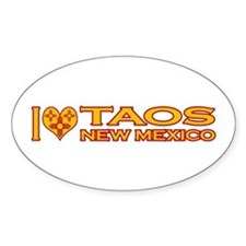 I Love Taos, NM Oval Sticker