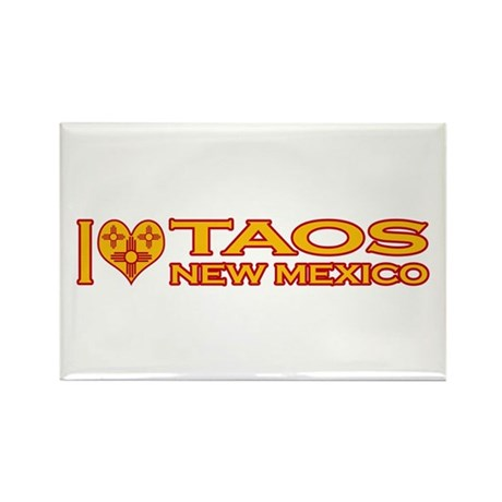 I Love Taos, NM Rectangle Magnet (10 pack)