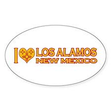I Love Los Alamos, NM Oval Sticker