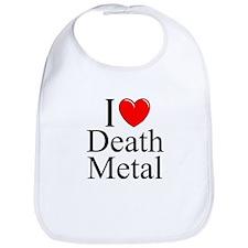 """""""I Love (Heart) Death Metal"""" Bib"""