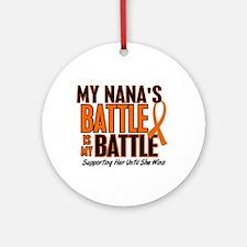 My Battle Too (Nana) Ornament (Round)