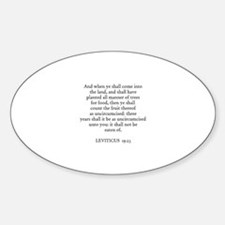 LEVITICUS 19:23 Oval Decal