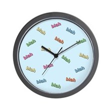 Blah Blah Wall Clock