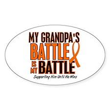 My Battle Too (Grandpa) Orange Oval Decal