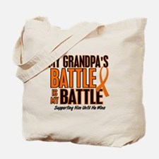 My Battle Too (Grandpa) Orange Tote Bag